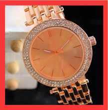 Nueva marca de lujo de oro de la aleación de ginebra Reloj relojes Mujer hombre Reloj Digital del cuarzo del diamante del Reloj de pulsera Casual Reloj de Mujer 91