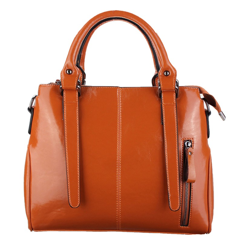 Women Leather Shoulder Handbags Solid Lady Crossbody Messenger Bags Fashion Retro Large Girls Shoulderbags Bolsa Female Zipper
