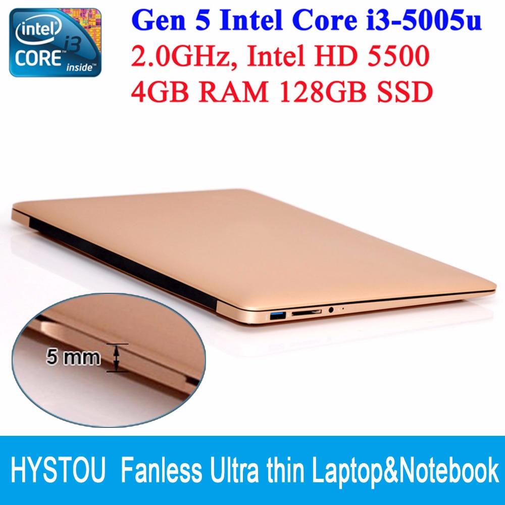 "Core I3 5005U ultrabook laptop PC Windows 10 Backlit keyboard 13.3"" screen 1080P HD 4GB RAM 128GB SSD Netbook notebook computers(China (Mainland))"