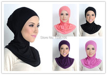 New Cotton Jersey Inner Cap Full Cover Head Neck  underscarf Islamic Hijab(China (Mainland))