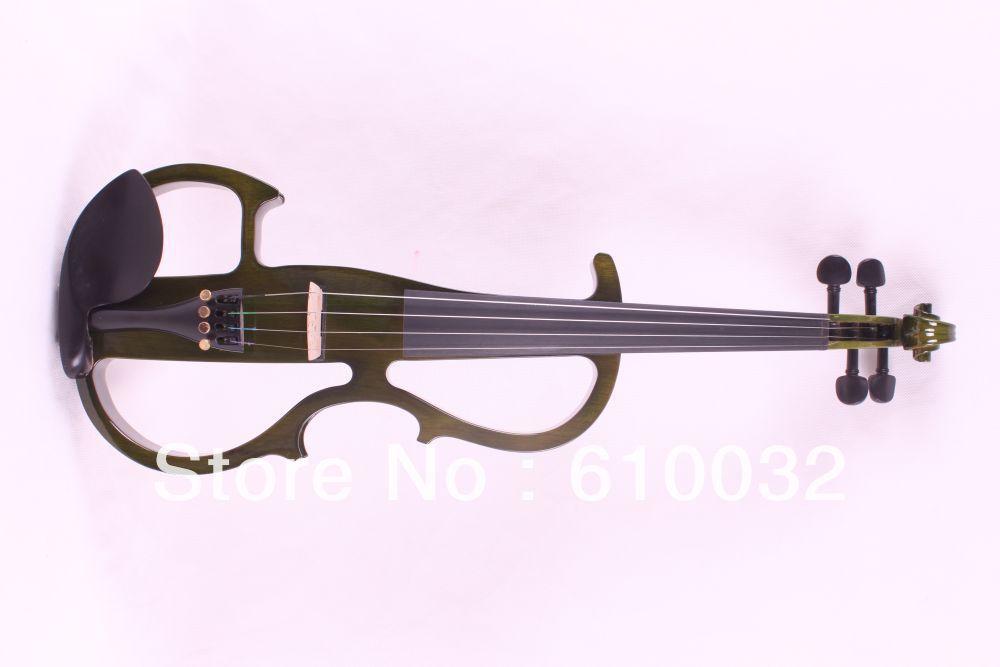 Здесь можно купить  4 strings 4/4 Electric Violin Silent Pickup Fine tone parts include  Golden Color #8-8 deep green  color  Спорт и развлечения