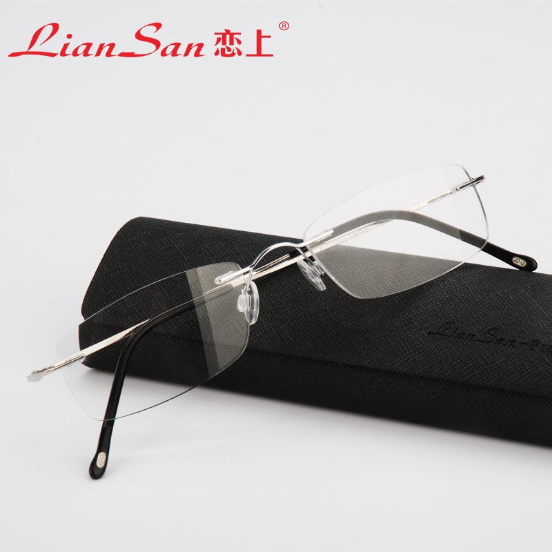 Rimless Glasses Lightweight : 2015-LianSan-Lightweight-Rimless-Reading-Glasses-Titanium ...