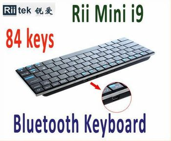 84 Keys QWERTY Rii Mini i9 Ultra Slim Bluetooth Wireless Keyboard for PC HDPC TV Free Shipping +Drop Shipping
