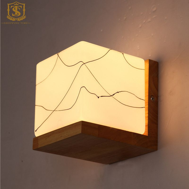 Led Wall Lamp Shades : Modern-Wood-LED-Wall-Lamp-Glass-Shade-Creative-Texture-New-Night-Light-PW007.jpg