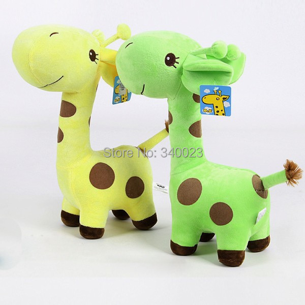 2014 Hot Toddlers Baby Soft Plush Toy Cute Plush Giraffe Colorful Doll Gift 18cm Small Free Shipping,BP55-S(China (Mainland))