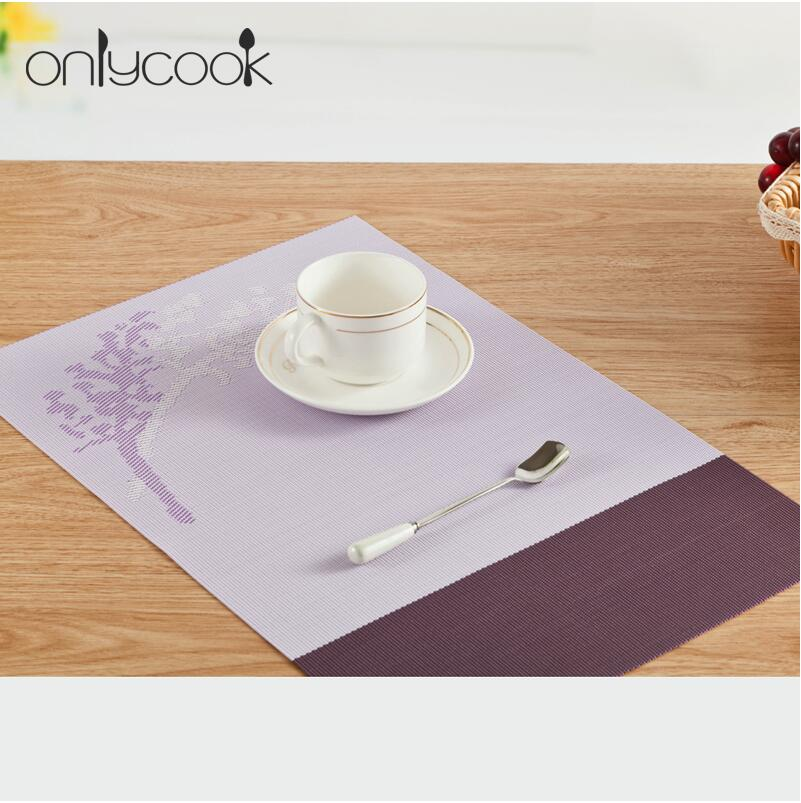 2Pcs/Lot PVC Placemat Dining Tables Mats Bar Mat waterproof Kitchen Accessories Coaster Pad;Anti - Oil,anti-friction 45*30cm(China (Mainland))