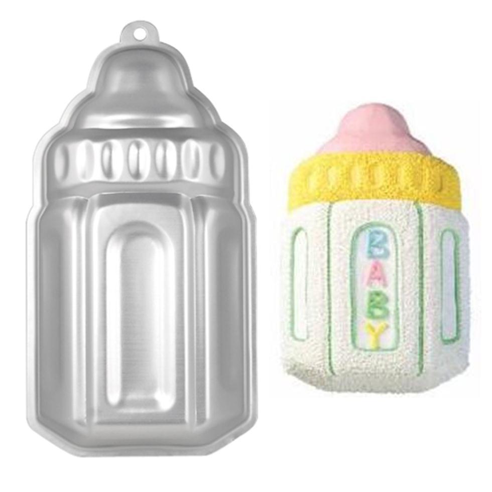 Best Sale New Baby Bottle Shaped Cake Baking Tin Ideal Baby Christening Shower Birthdays(China (Mainland))