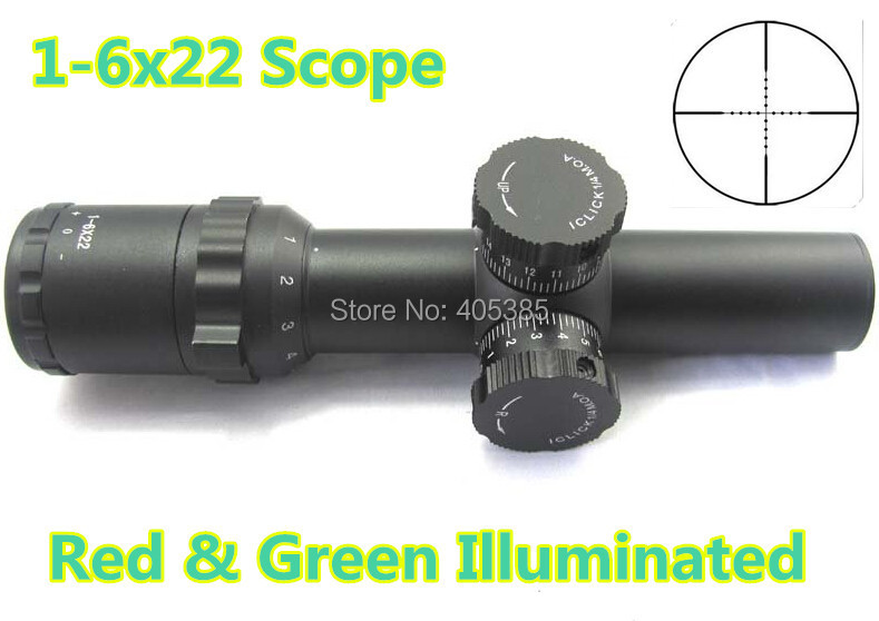 Brand New! Tactical 1-6x22 Side Wheel Illuminated Optical Rifle Scope huning scope<br><br>Aliexpress