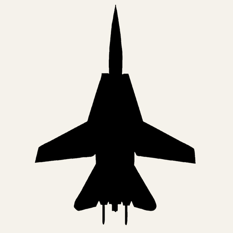 Wholesale 20pcs/lot F-14 Fighter Car Sticker Pilot Fly Aircraft Jet Bomber Combat fighter Vinyl Decal For Truck Window Bumper(China (Mainland))