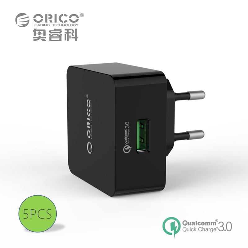 ORICO QTW-1U 1 Port QC3.0 USB Quick Charger Wall Charger with 1m Free Micro USB Cable 5PCS(China (Mainland))