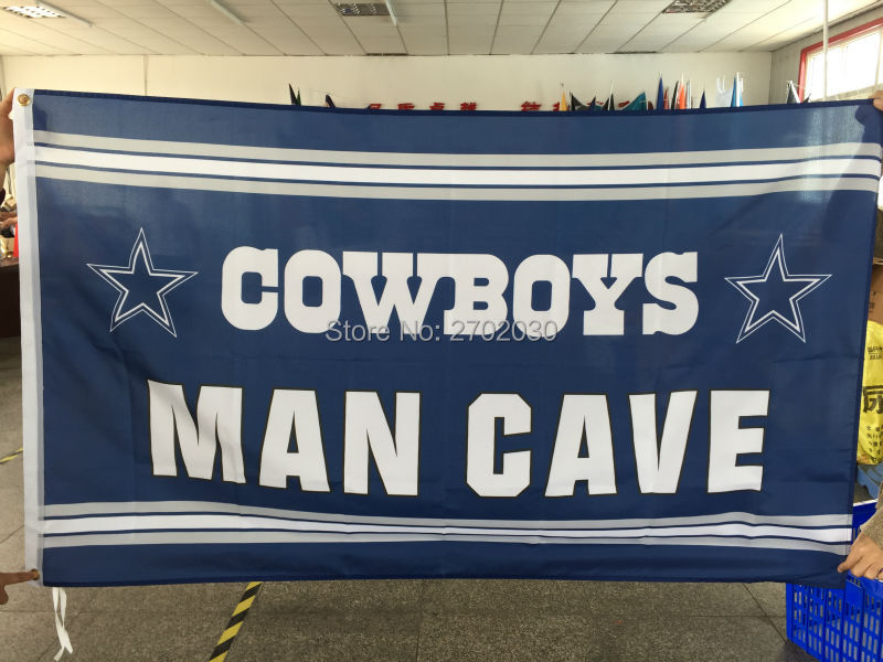Cowboys MAN CAVE Flag star Dallas Cowboys Banner World Series 2016 Football Team Jerseys Flag 3ft X 5ft Dallas Cowboys Flags(China (Mainland))
