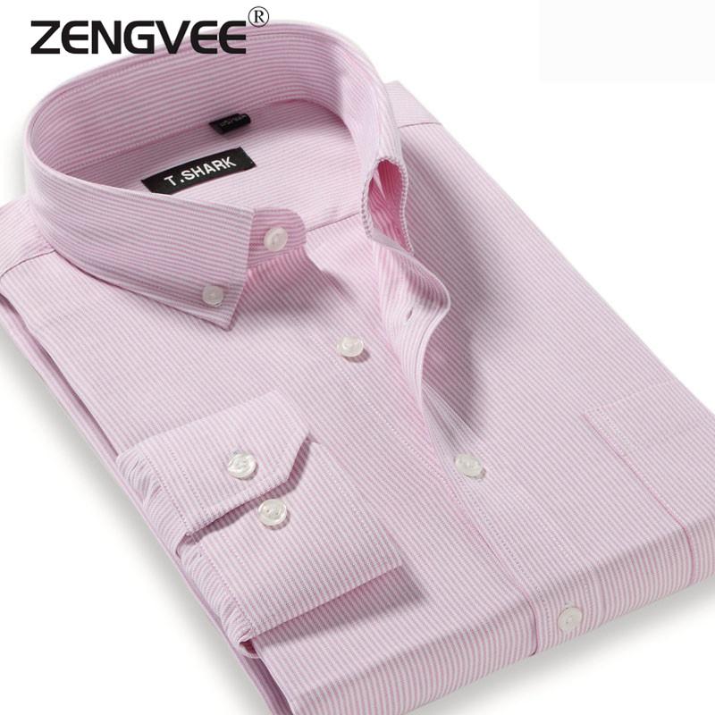 Men Hitz Men's Business Casual Long-sleeved Shirt Slim Iron Pinstripe Shirt Soft Comfortable Plus Size Shirts-Free Shipping(China (Mainland))
