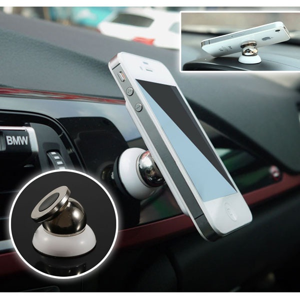 360 Degrees Universal Car Mount Sticky Magnetic Stand Holder For iPhone Samsung HTC sony 1pcs/lot(China (Mainland))