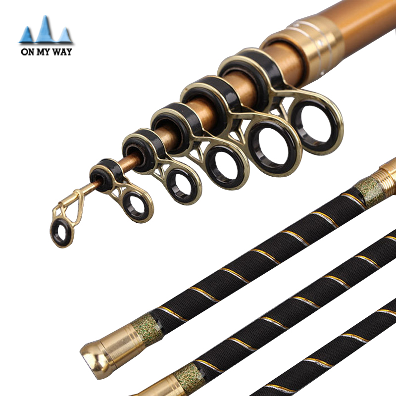 Extendable Metal Rod : M telescopic fishing rod fit for reel metal base