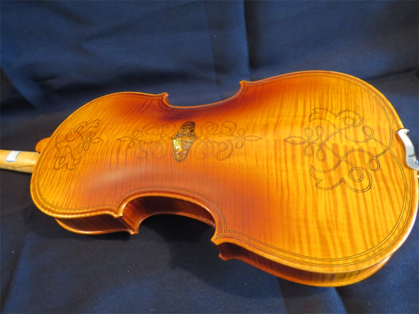 Strad Style SONG Brand meastro inlay shell /double strip violin 4/4 #11726(China (Mainland))