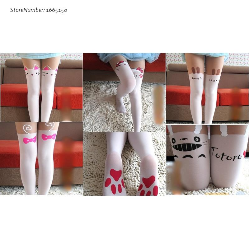 Women Girls Kawaii Tights Hello Kitty Nylon Stockings Spring Autumn Cute Pantyhose Cheap Sale(China (Mainland))