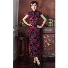 Buy New Arrival Chinese Tradition Women's Mandarin Collar Velour Long Cheong-sam Dress M L XL XXL 3XL 4XL for $55.08 in AliExpress store
