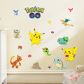 Pokemon Wall Stickers for Kids Rooms Home Decorations Pikachu Wall Decal Amination Poster Wall Art Wallpaper