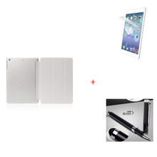 Magnetic Case For iPad 2/3/4/air/6/mini Tri-Fold Slim PU Leather Smart Cover with Screen Protector Film & Stylus(China (Mainland))