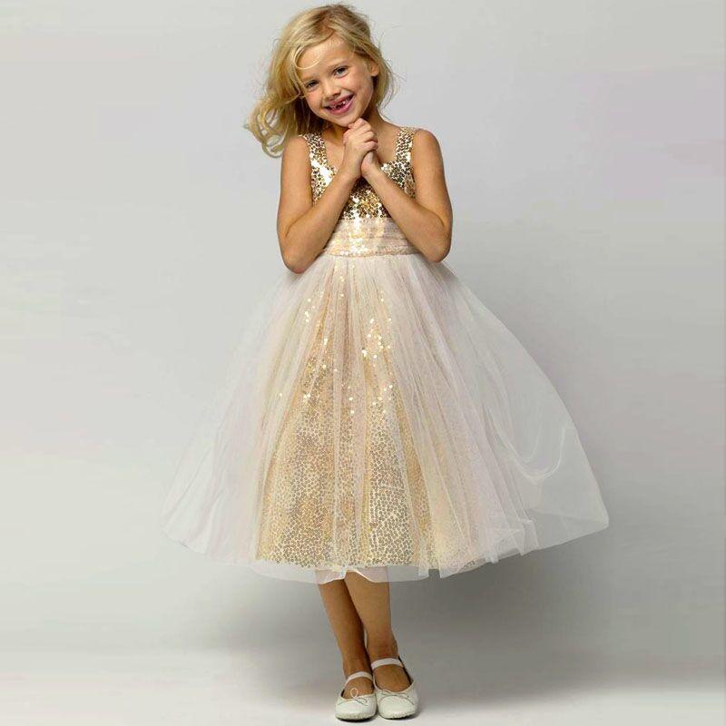 Popular Gold Sequin Little Girl Dress-Buy Cheap Gold Sequin Little ...