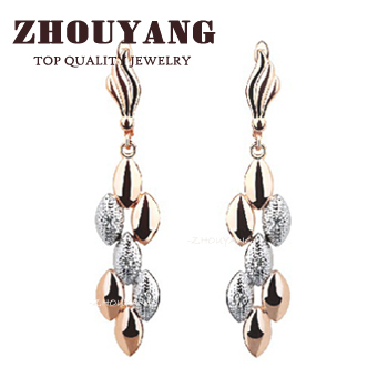 Top Quality ZYE095 Earrings 18K Rose Gold Plated Fashion Jewelry Made with Austrian Crystal  Wholesale