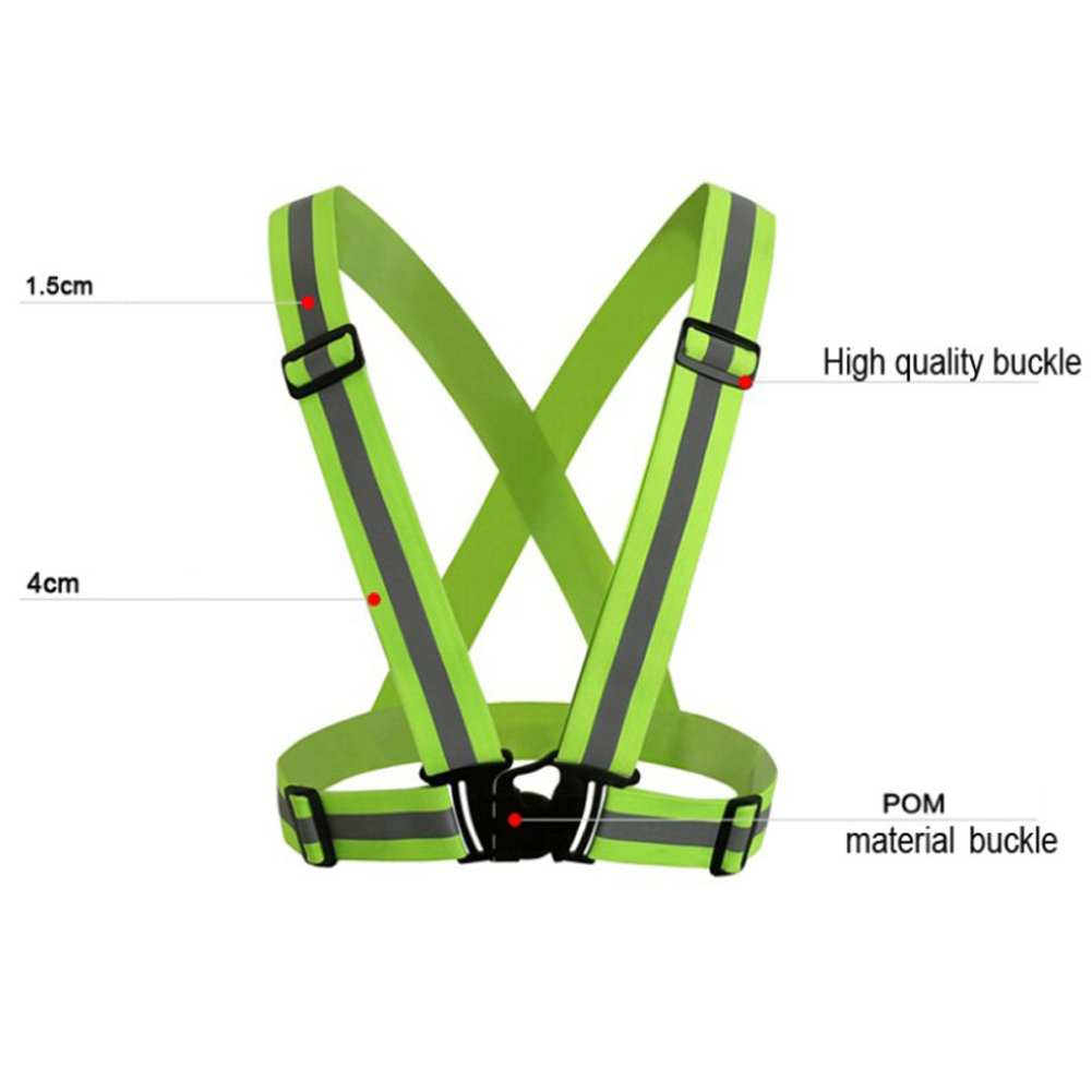 Sporting Zk20 Dropshipping Unisex Outdoor Cycling Safety Vest Bike Ribbon Bicycle Light Reflecting Elastic Harness For Night Activities Bicycle Light Bicycle Accessories