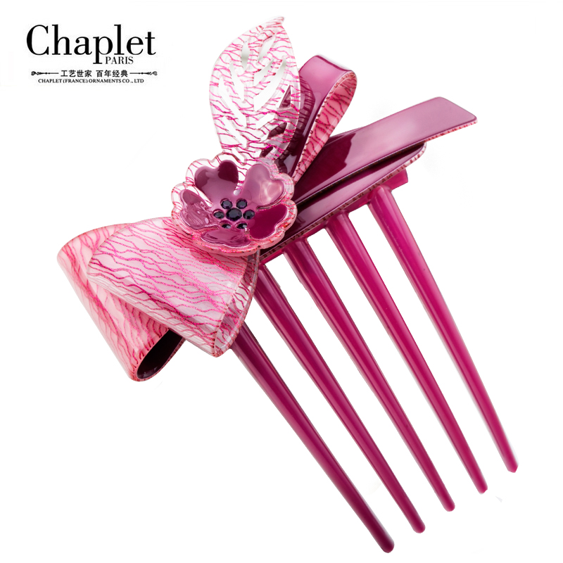 Chaplet 2016 New High Quality Romantic Women Hair Accessories Flower Hair Combs Rhinestone Scrunchy Hair Bow Bunny Free Shipping(China (Mainland))