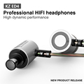 KZ ED4 Earphone Metal Stereo Noise Isolating In ear Earphone Music Headset Auriculares fone de ouvido