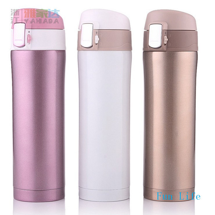 Fun Life 500ml Thermos Cup Stainless Steel Bottle Vacuum Flasks Thermoses garrafa termica infantil my bottle thermo(China (Mainland))