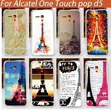 Buy New fashion diy painted colorful Eiffel Towers cover case Alcatel one touch D5 pattern hard cover Alcatel one touch D5 for $1.46 in AliExpress store