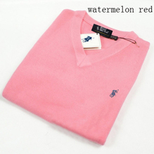 2015 Fashion POLO mens sweaters and pullovers Winter Casual V-Neck mens cashmere sweaters Famous Brand sweater size S-XXXL(China (Mainland))