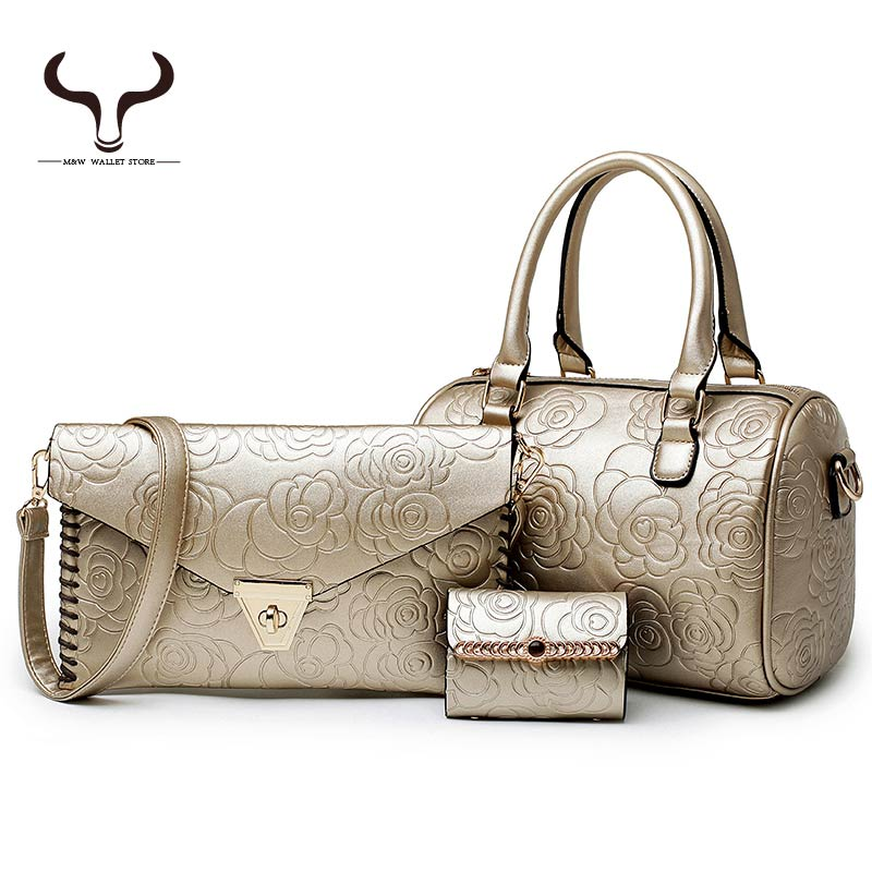 Buy One Get Three Floral pattern Women Totes Handbags PU Leather Lady Small Composite Bag famous design evening bags LF/DS8913(China (Mainland))