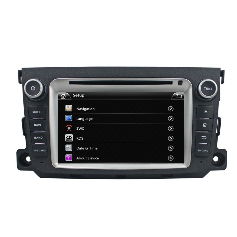 "HD 2 din 7"" Car DVD GPS for Mercedes Benz Smart 2012 2013 2014 With Radio Bluetooth IPOD TV SWC AUX IN USB"