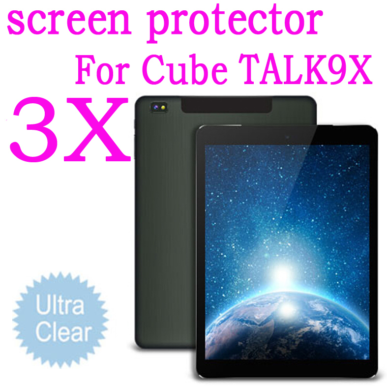 "3pcs Clear Screen Protector Protective Guard Film for Cube Talk 9X U65GT MT8392 Octa Core 2.0GHz Tablet PC 9.7""inch(China (Mainland))"