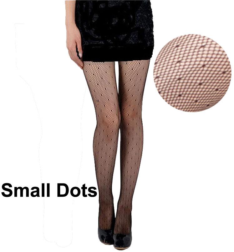 Black Color Good Packing Women Small Dots Fashion Brief Design Fishnet Nylon Tights Ladies Sexy Slim Pantyhose Thin Stockings(China (Mainland))