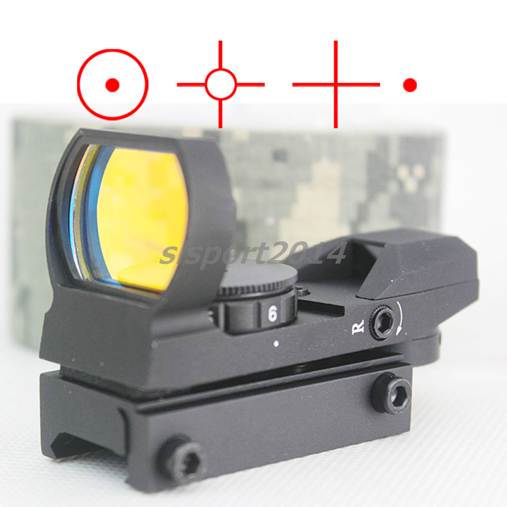 Гаджет  Hunting  Tactical 20mm/11mm 1x22x33 Reflex Holographic 4 Reticle Red Dot Sight Scope Picatinny Weaver Rail None Спорт и развлечения