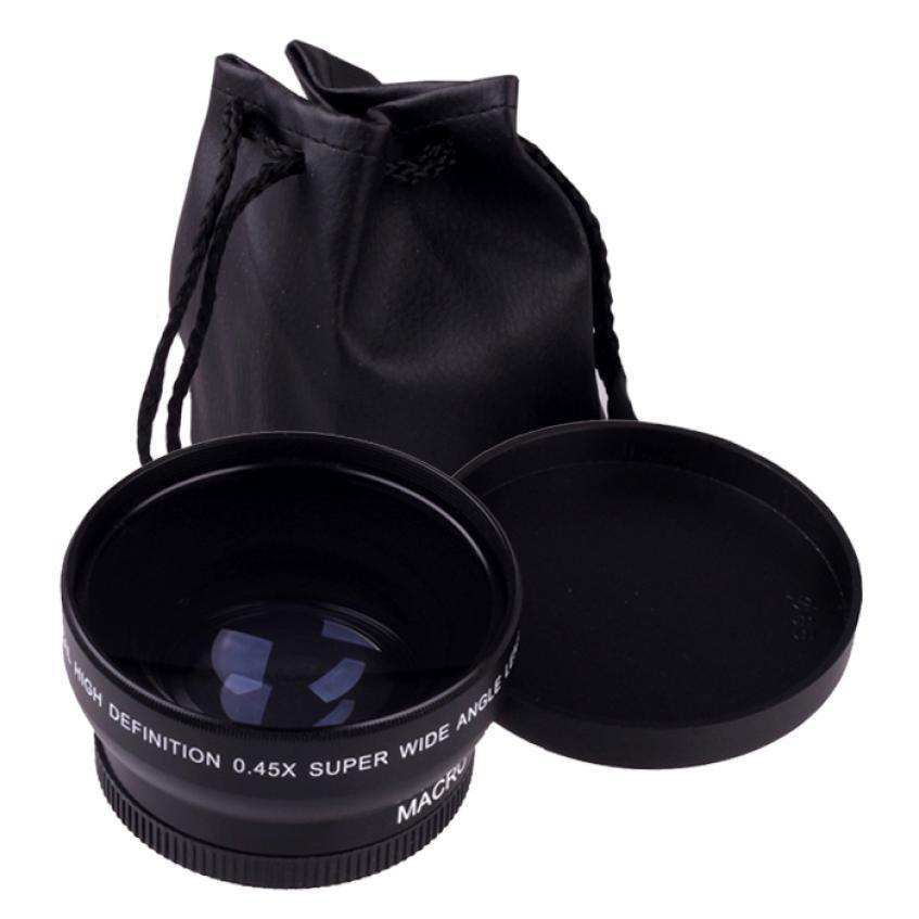 FLOWER New 52MM 0.45X Wide Angle Macro Lens For Nikon D5000 D5100 D3200 D3100 D90 Free Shipping(China (Mainland))