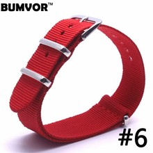 Buy Top Brand Luxury Men Watch Band Straps Red 16 18 22 24mm bracelet Nato fabric Nylon watchbands Strap Bands Buckle belt for $2.31 in AliExpress store