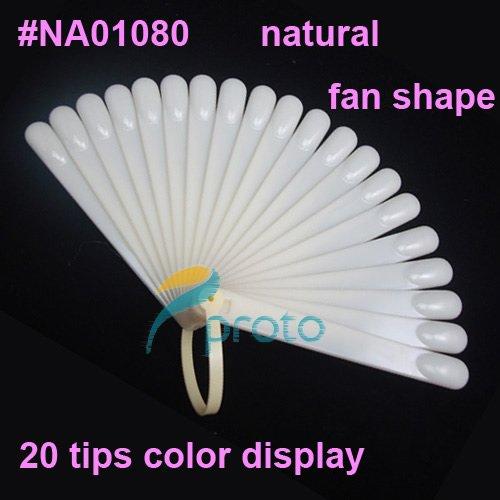 Freeshipping-20 tips Fan-Shaped Nail Art Display Natural Chart for Polish Gel Display Tool #NA01080<br><br>Aliexpress