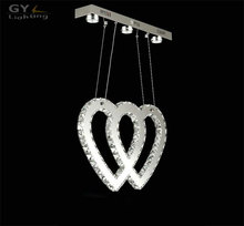 Heart in heart LED chandelier