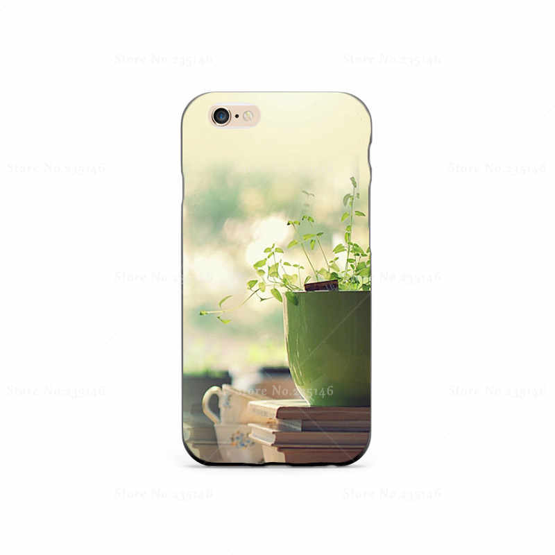 Indoor Plants Plastic Protective Shell Skin Bag Case For iPhone4s 5s 5c 6plus 6Splus 5.5 Cases Hard Back Cover(China (Mainland))