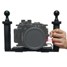 Buy Underwater Tray Housings Arm Gopro Action Camera Holder Double Grip Dive Canon Nikon Sony Fujifilm Olympus for $90.85 in AliExpress store