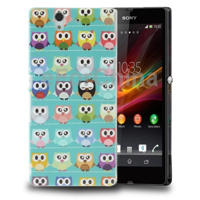 New Fashion Cell Phone Covers Shell Owl Pattern Plastic Protective Case Bag for Sony Xperia Z/L36H/Yuga C6603(China (Mainland))