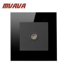 Buy Mvava Manufacturer UK Standard Power Socket Black Crystal Glass Panel TV Socket 86*90mm Wall Socket Free for $8.85 in AliExpress store