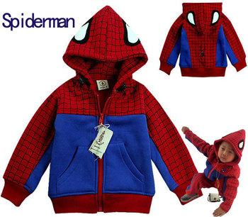 Spiderman Kids Jackets & Coats Spring Flannel Jacket Kids Boy Children Coats and jackets baby boys ' jackets Hoodies long sleeve