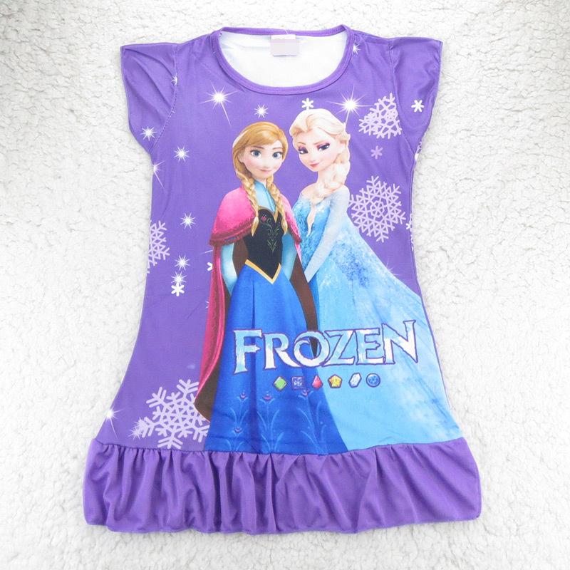 FINAL SALE!!! Girls nightgown Children Dress nightgown Kids Cartoon Pajama sets Hot sale Girls dress sleepwear TS027--CGR3(China (Mainland))