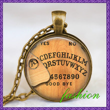 Ouija board necklace you choose letter personalized, ouija board pendant jewelry,gothic necklace, spirit board pendant(China (Mainland))
