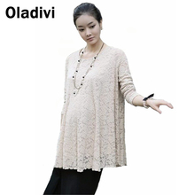 Maternity Clothes/Shirts for Pregnant Women New Spring Summer 2016 Fashion Pregnancy/Gravida Clothing Blouses Tops Lace Dresses(China (Mainland))