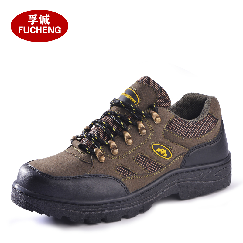 big size men steel toe caps working safety shoes women outdoor hiking tooling ankle boots lace up breathable protective footwear(China (Mainland))
