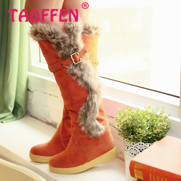 Free shipping knee boots women fashion long boot winter footwear high heel shoes sexy snow warm P7879 EUR size 34-39